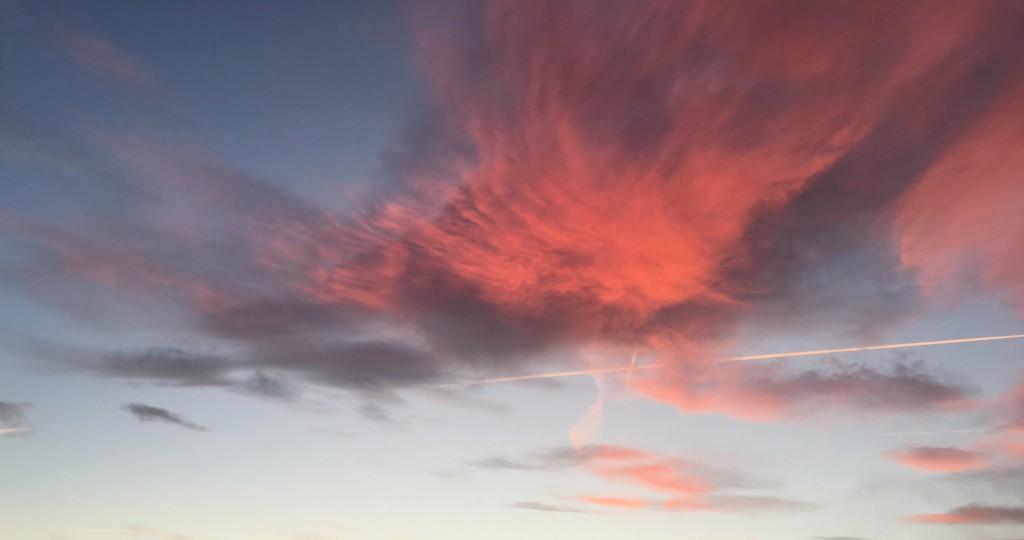 Ciel pourpre  sur Lyon
