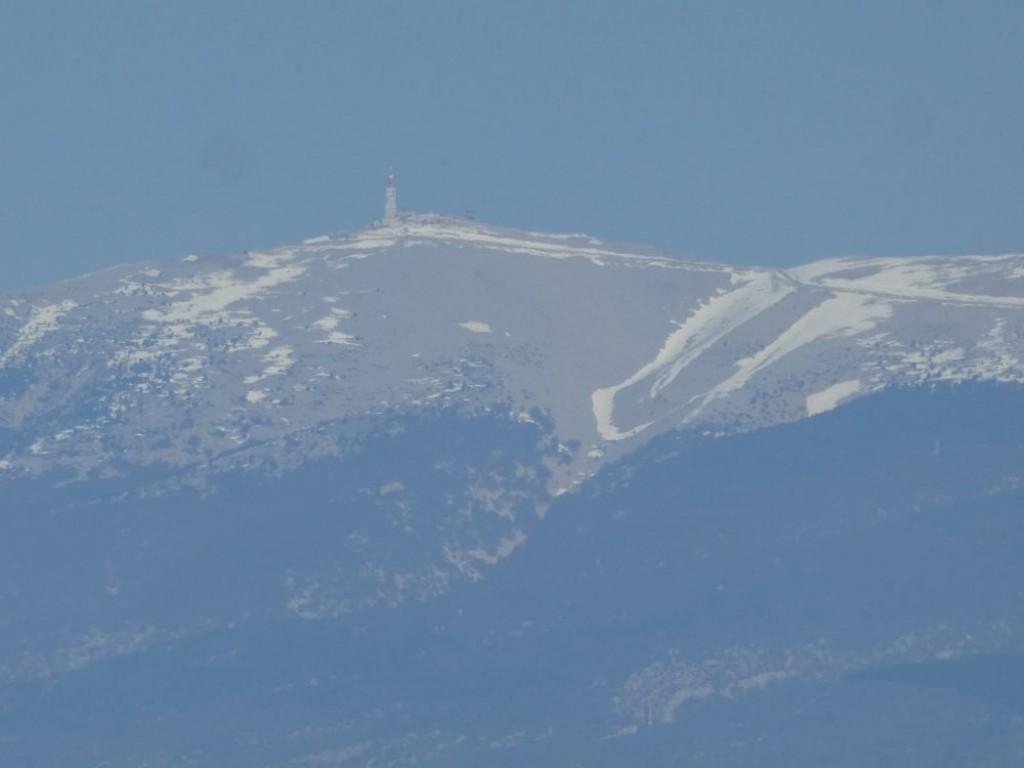 reste de neige sur le Ventoux