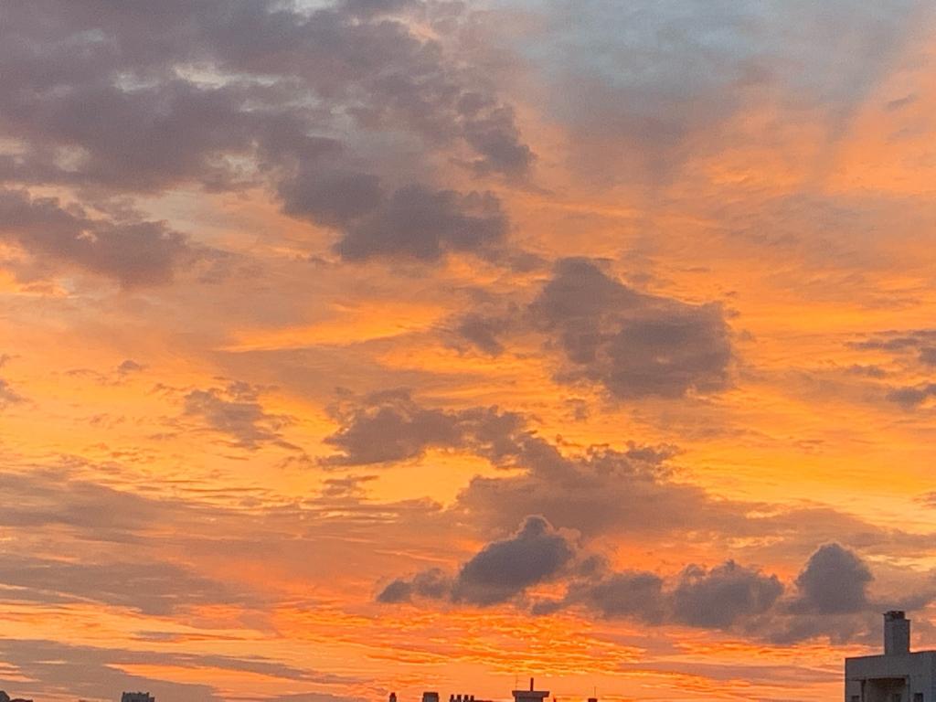 coucher de soleil...