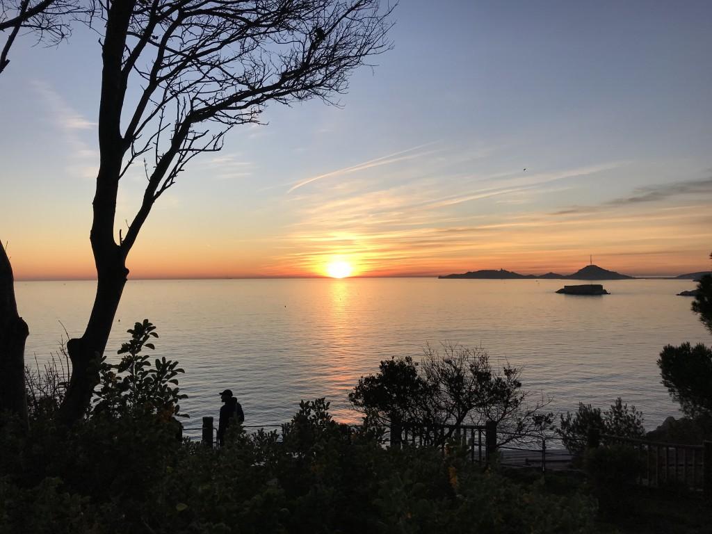 Coucher de soleil sur le Frioul et l'île Gaby