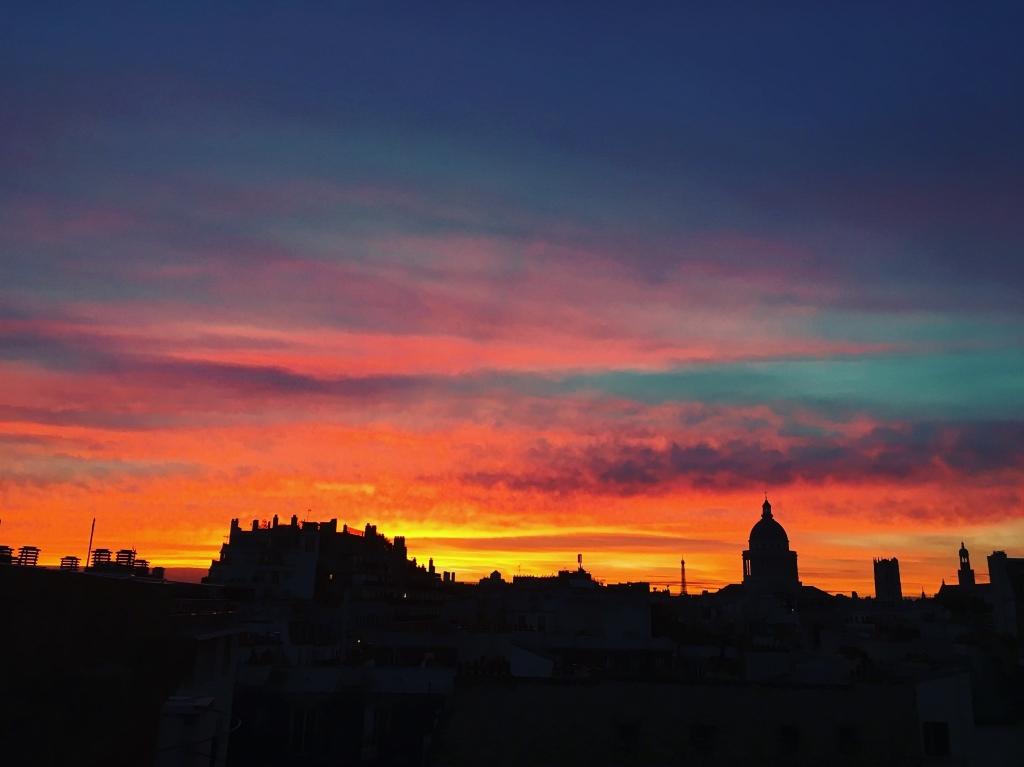 Photos m t o sur paris le premier site m t o pour paris et l 39 le de france - Coucher de soleil sur paris ...