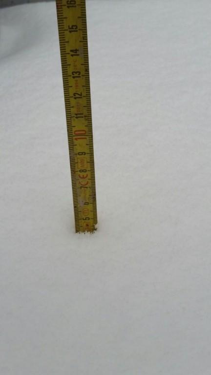Couche de neige à 17h