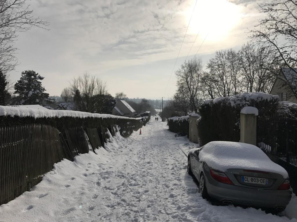 Eclaircie après l'averse de neige