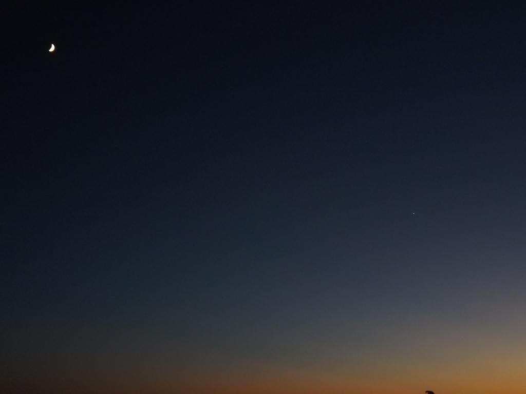La lune et Venus
