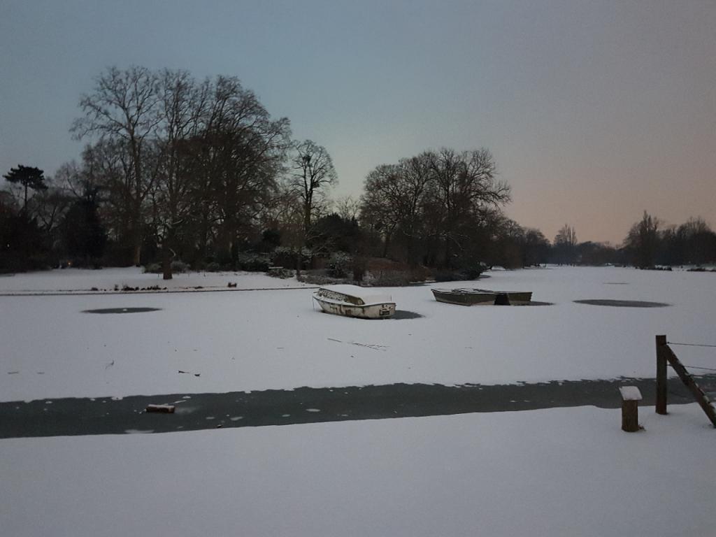 Lac Daumesnil sous la neige
