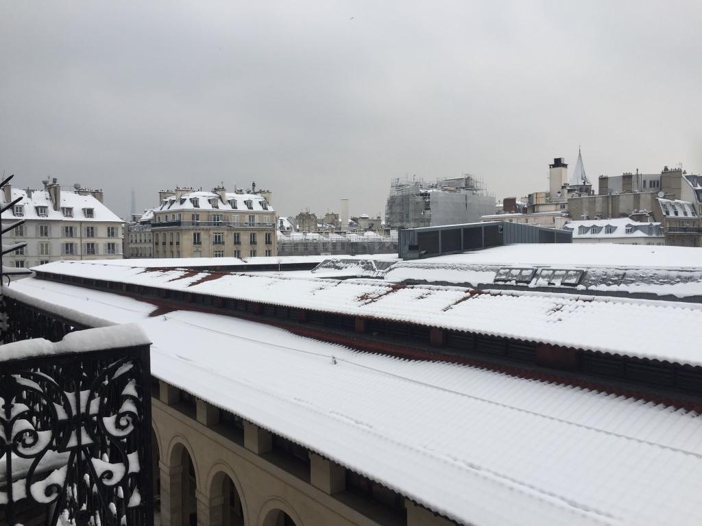 le toit du marché Saint-Germain plus de 10 cm