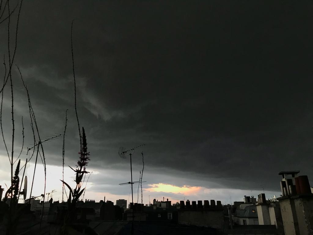 L'orage du soir...