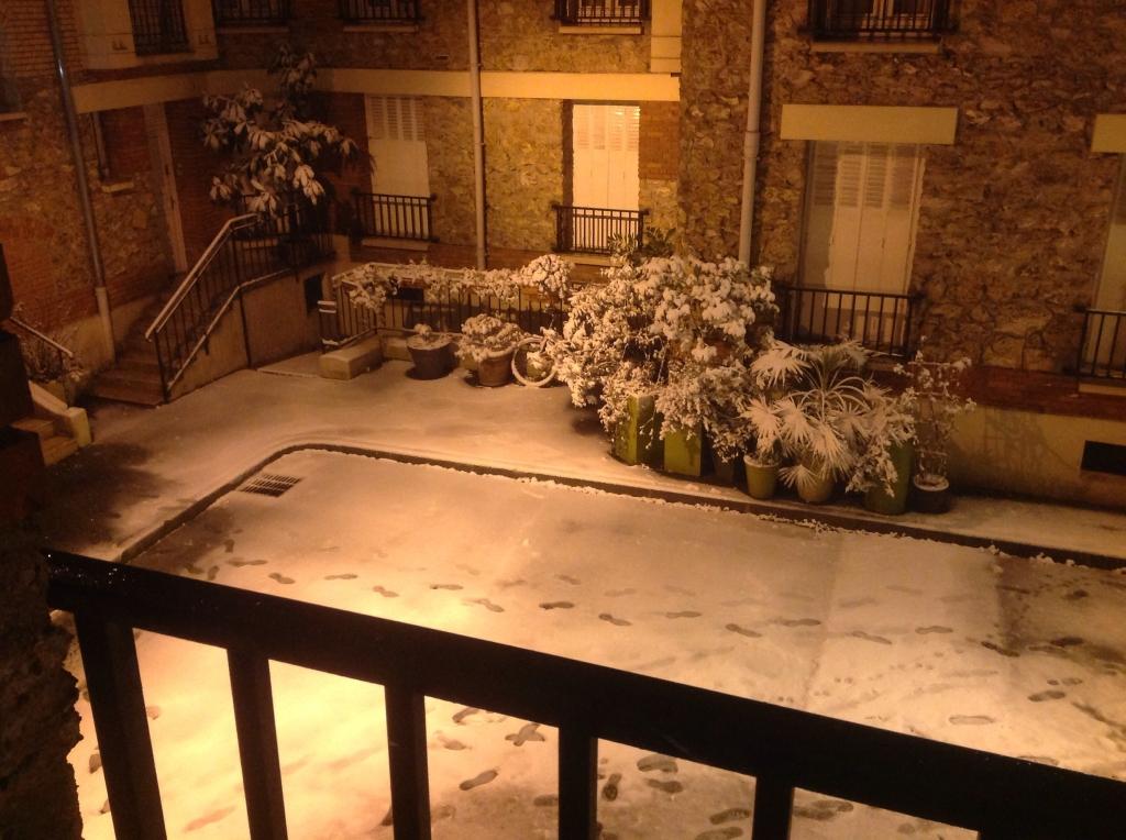 neige depuis mon salon