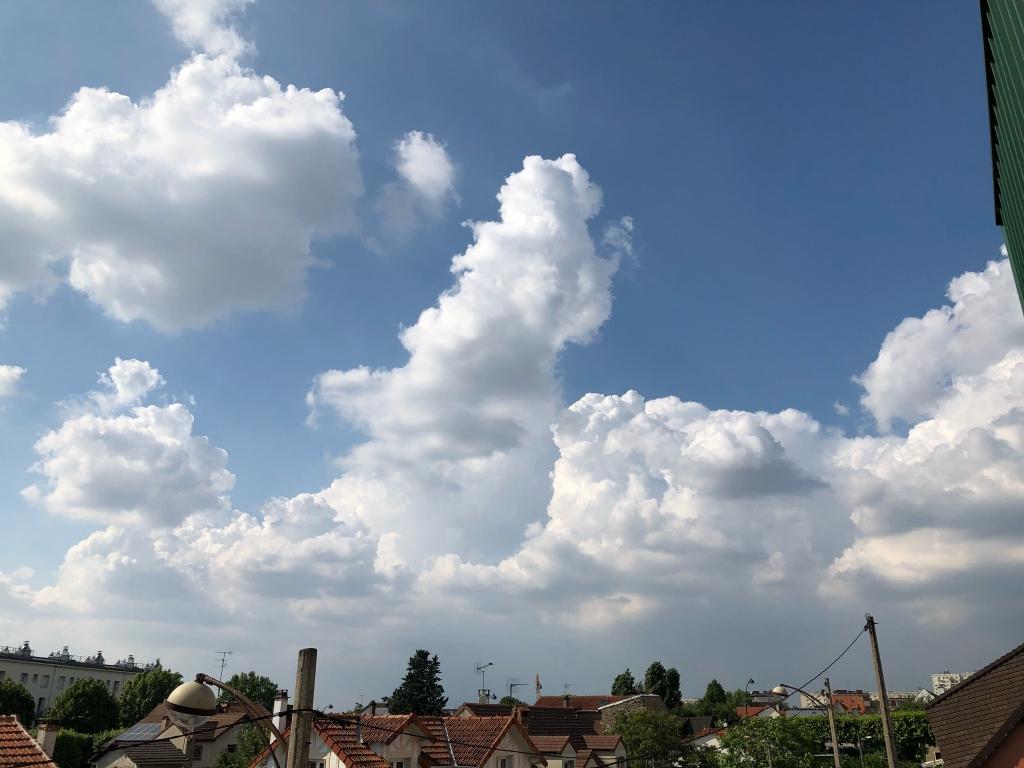 point de formation de cumulus nimbus