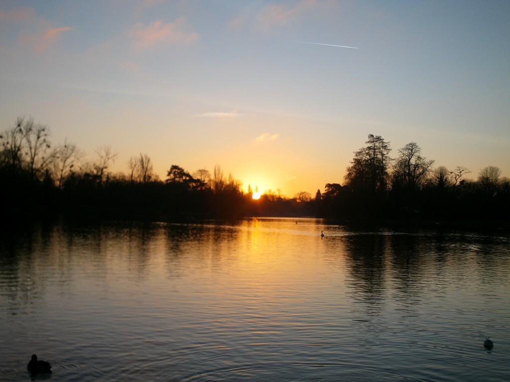 lac de vincennes à l'aube