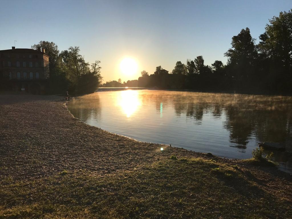 lever de soleil sur l'Aveyron