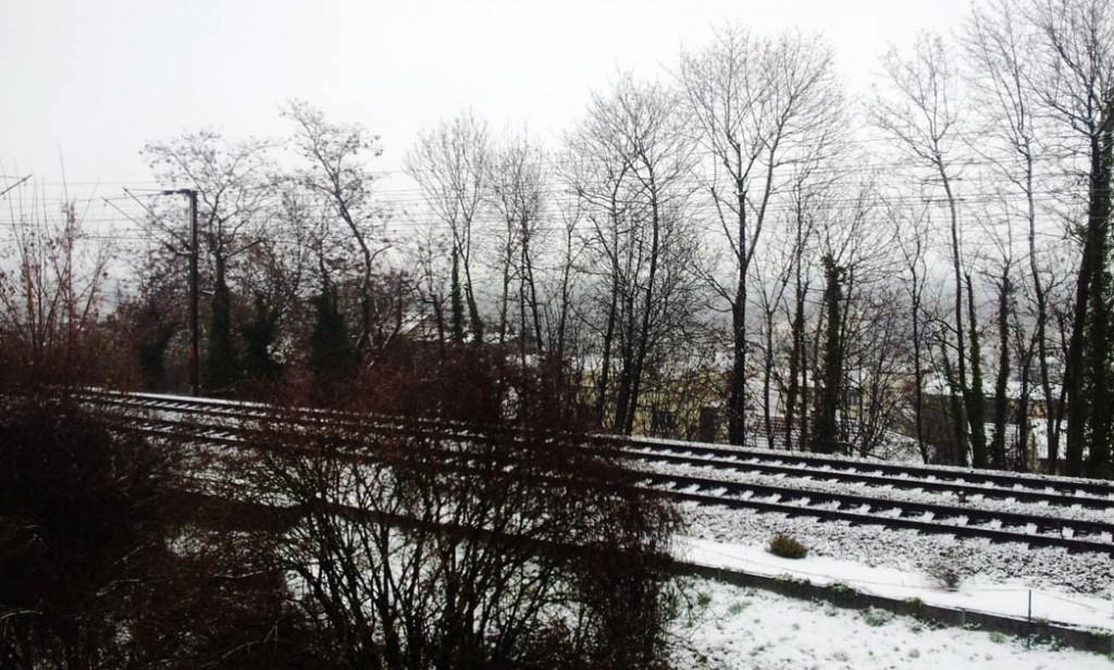 neige sur rails