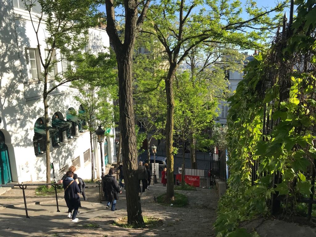 Rue Chappe, le long du jardin des arênes