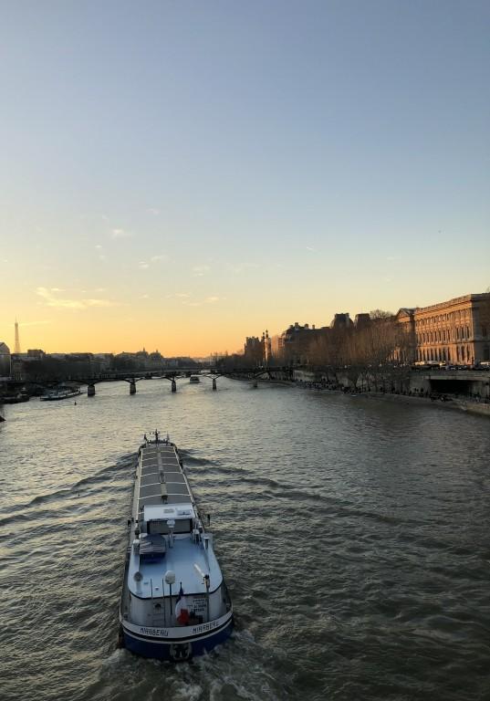 Soleil couchant sur la Seine
