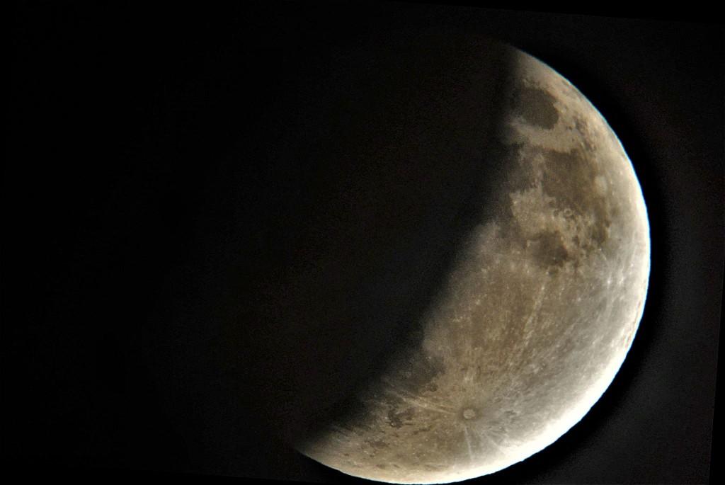Uckange éclipse partielle de lune