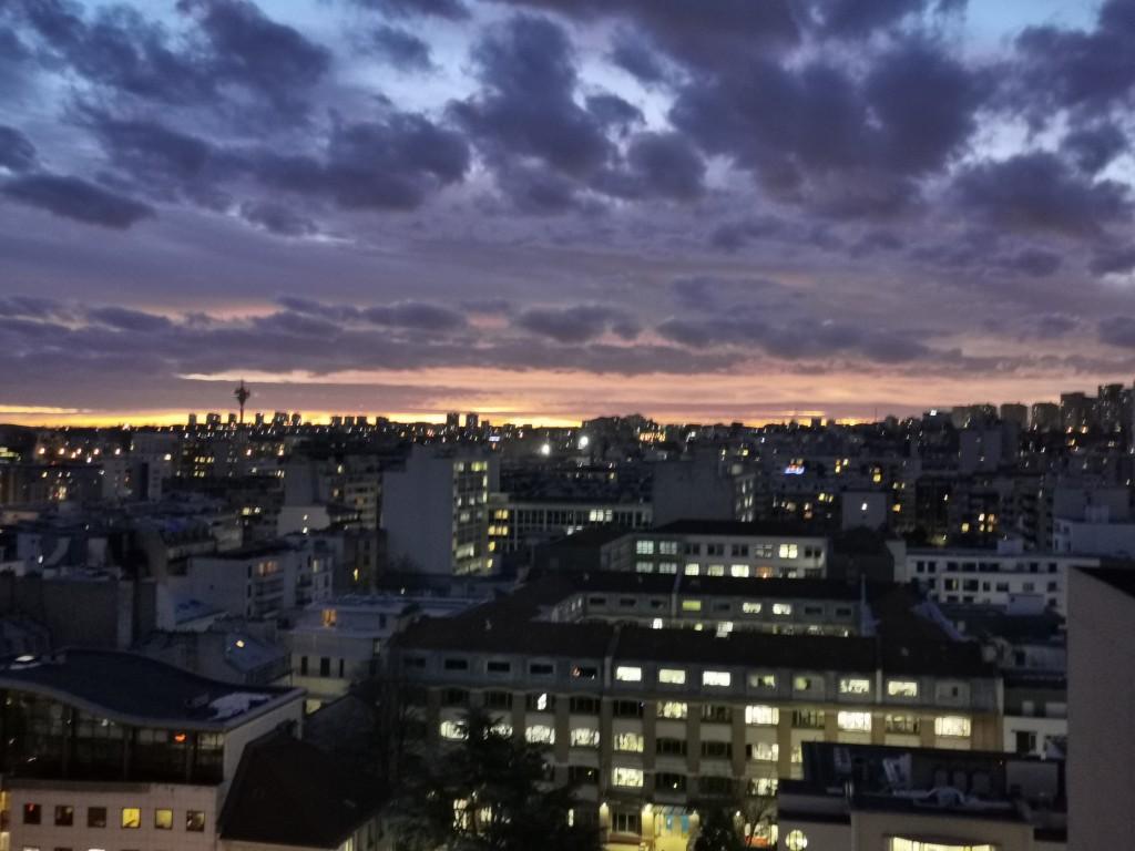 Ciel de Paris janvier
