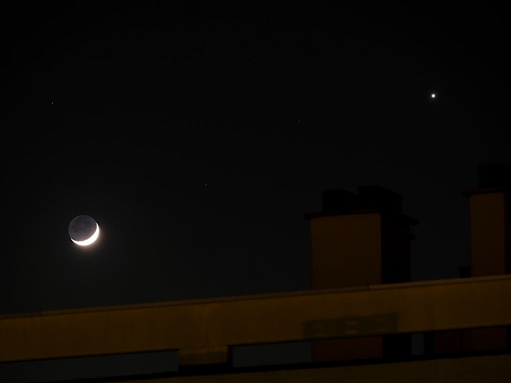 Conjonction entre Vénus et la lune