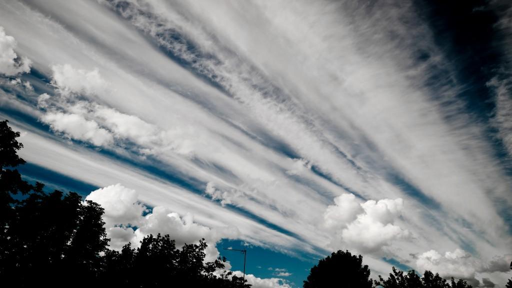 joli ciel cet après-midi sur Saint Maur