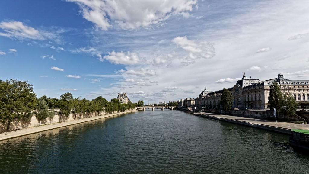 La Seine vue de la passerelle Léopold Sédar-Senghor - côté est