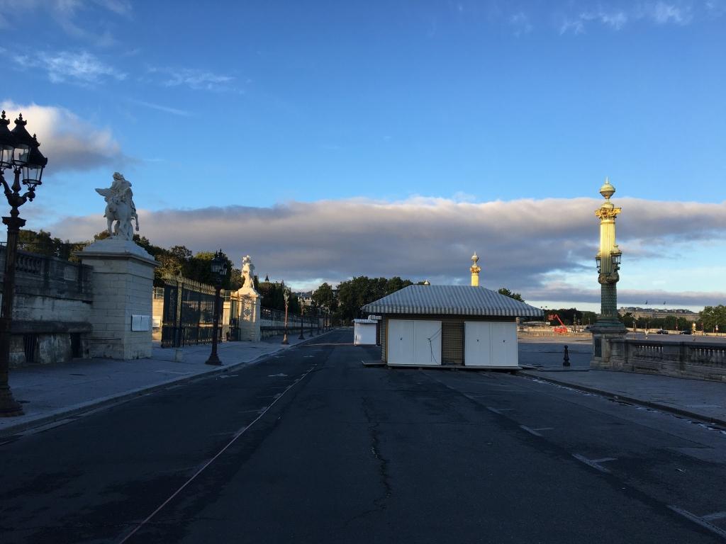 Place de la Concorde et Tuileries Dimanche matin