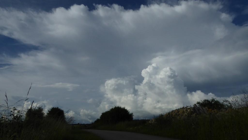 Cellule orageuse en direction du Nord