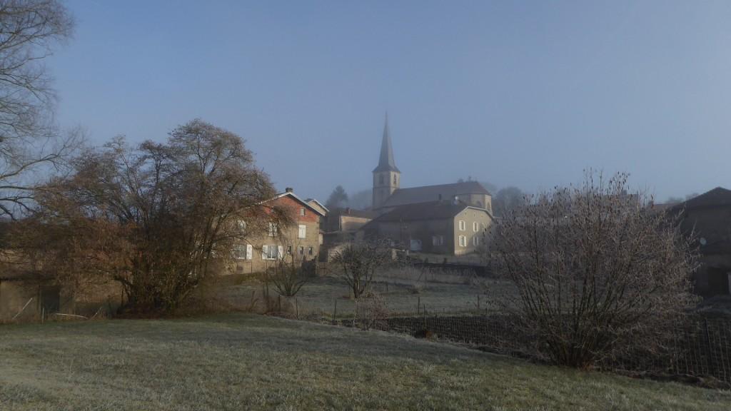 Gelée blanche et brouillard ce matin
