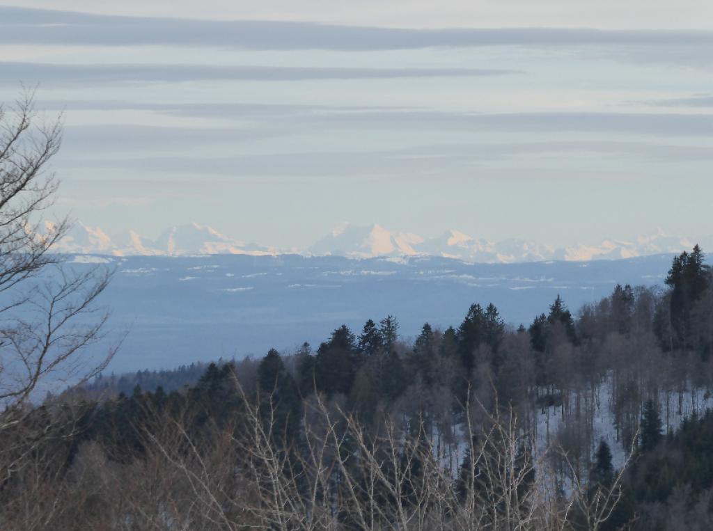 Jura et Alpes depuis les Vosges.