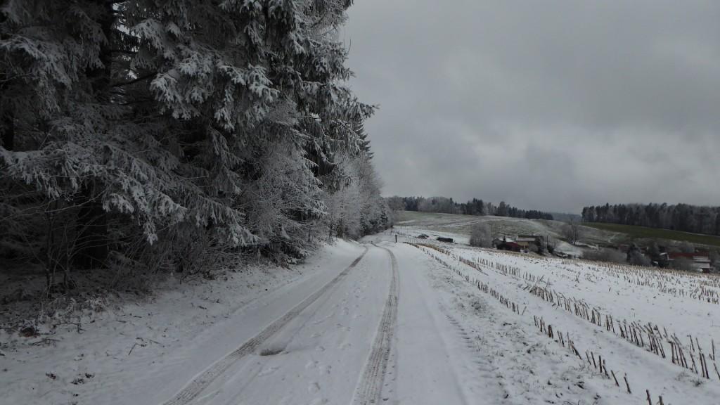 La neige d'hier
