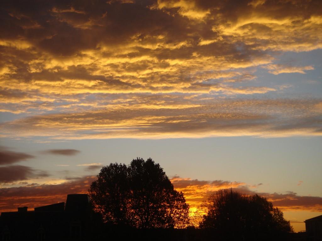lever de soleil au sud-est de la Moselle (grand-angle)