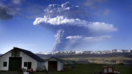 Le volcan Grimsvoetn en éruption