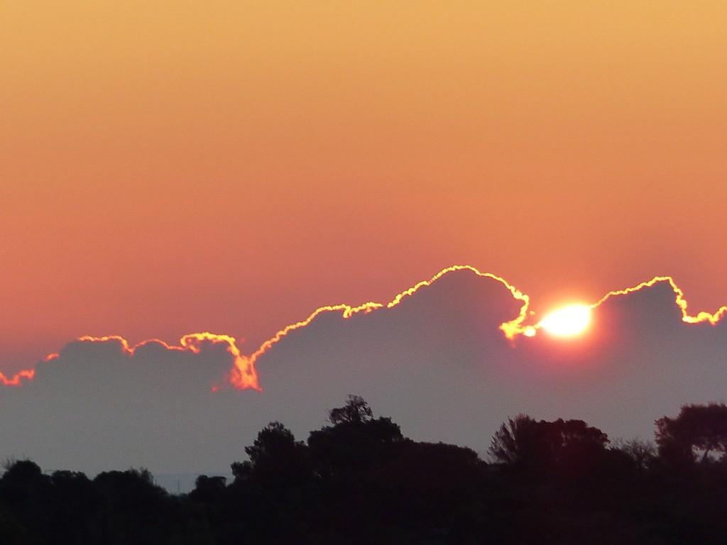 lever de soleil sur Bormes les Mimosas