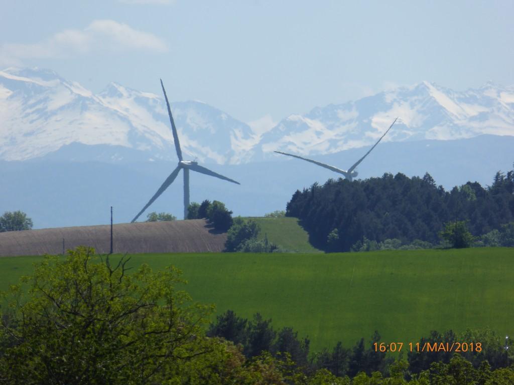 Les Pyrénées vues de Labarthe/Léze