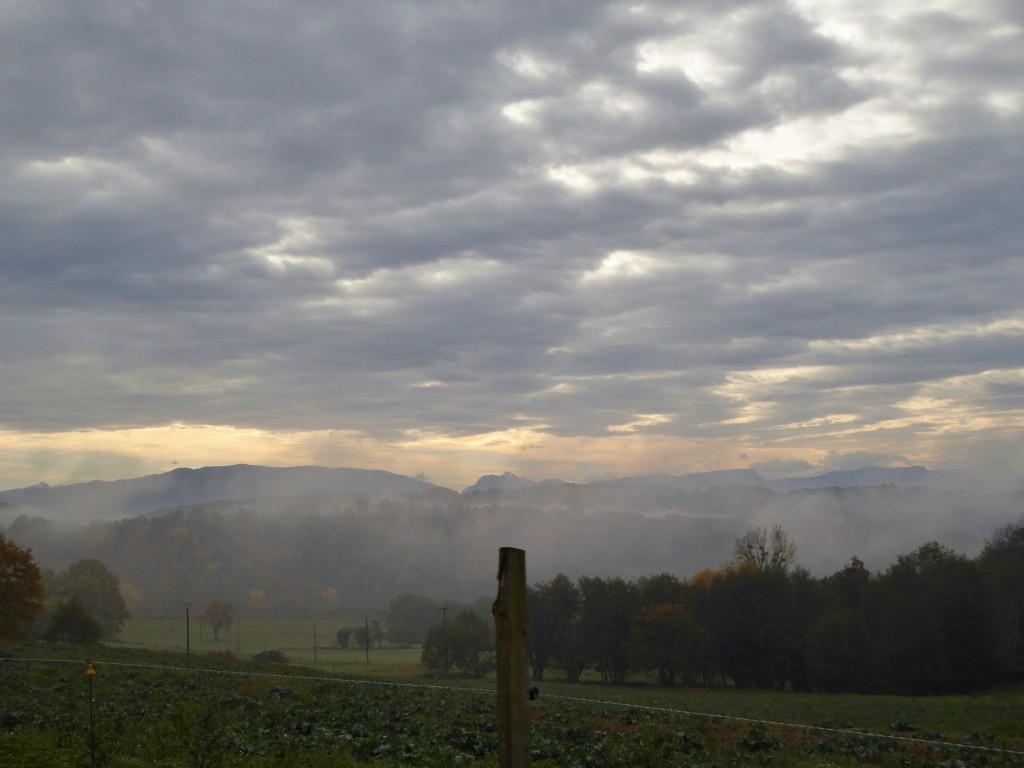 Entre brouillard et nuages