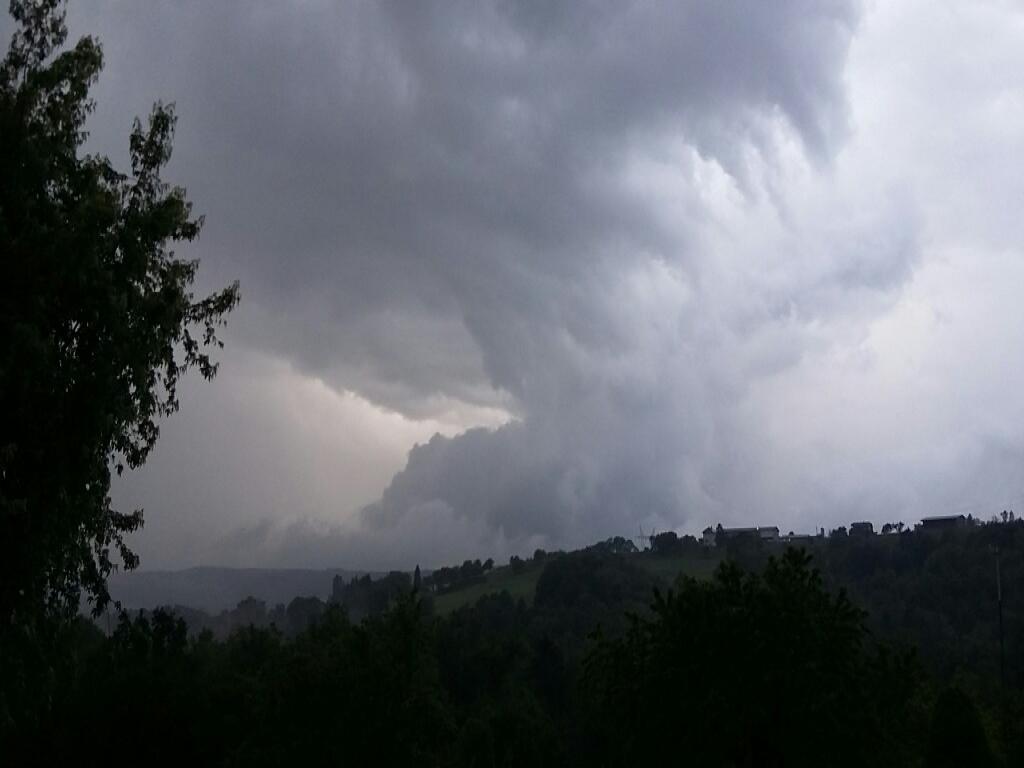 nuages orageux très instables