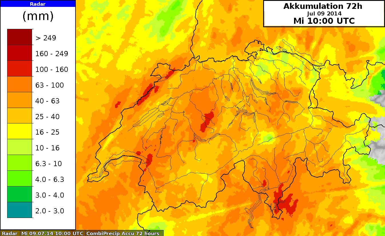 Image d'illustration pour Fortes pluies sur le Massif Central, le Centre-Est (Isère, Savoie) et la Suisse
