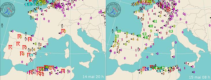 Image d'illustration pour Orages sur le Maghreb et l'Europe du Sud