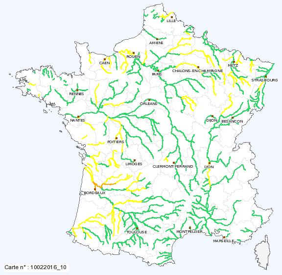 Image d'illustration pour Les crues et les inondations prennent de l'ampleur sur la France