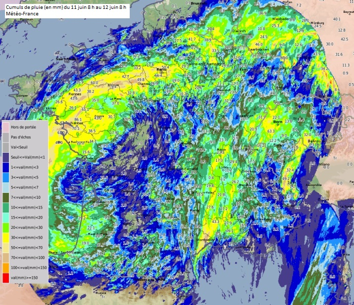 27 départements toujours en vigilance orange — Orages et inondations