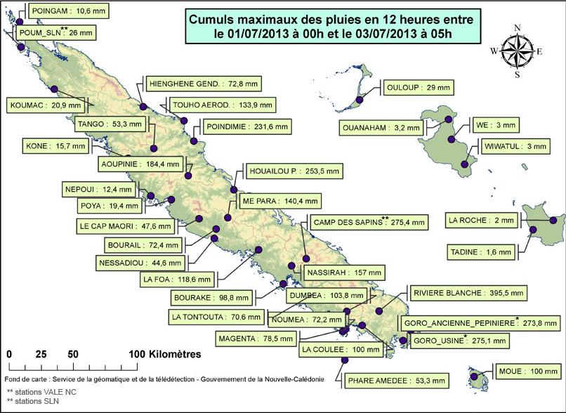 Image d'illustration pour Météo DOM TOM : Pluies exceptionnelles en Nouvelle Calédonie
