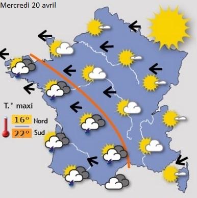 Image d'illustration pour Orages et pluie abondante durant le week-end des 16 & 17 avril