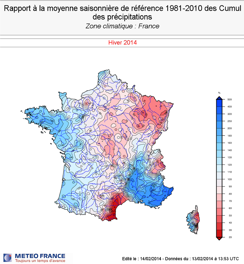 Image d'illustration pour Un hiver doux et pluvieux sur la France
