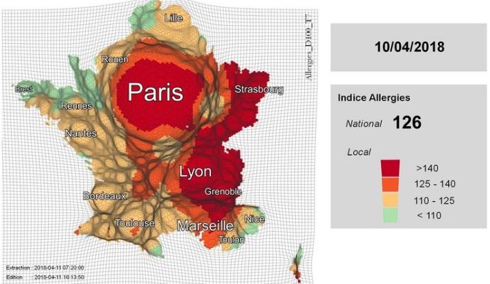 Quelles sont les villes concernées — Allergies au pollen