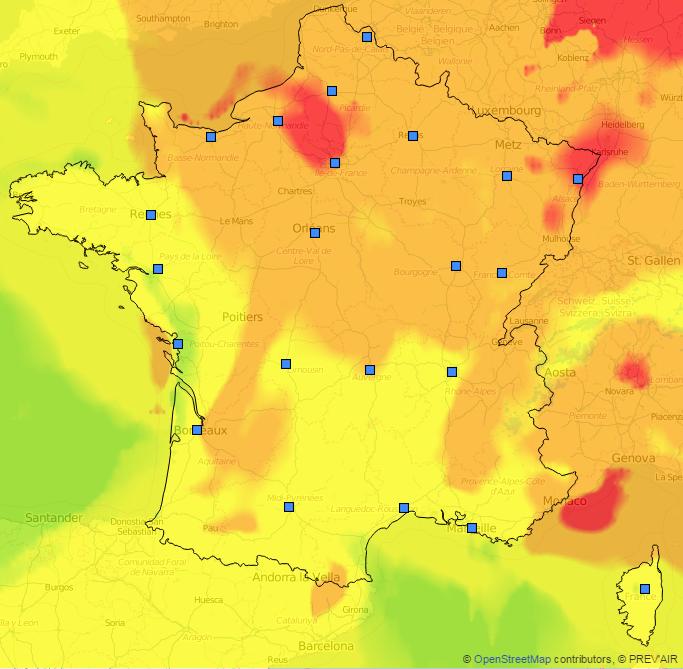 Image d'illustration pour Bilan des pics de pollution à l'ozone du 30 juin au 7 juillet