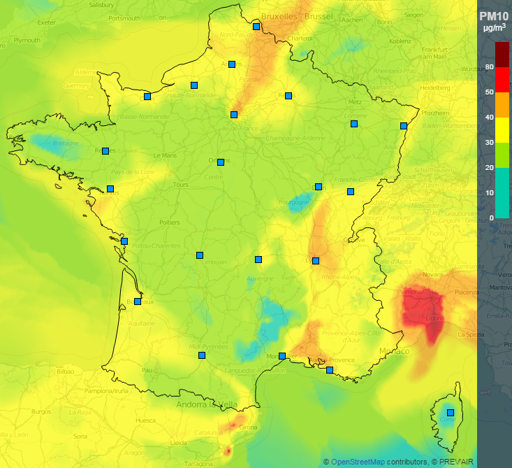 Image d'illustration pour Anticyclone et pollution aux particules fines - qualité de l'air médiocre