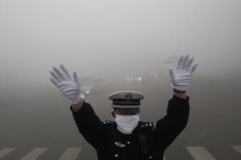 Image d'illustration pour Brouillard et pollution extrêmes à Harbin en Chine