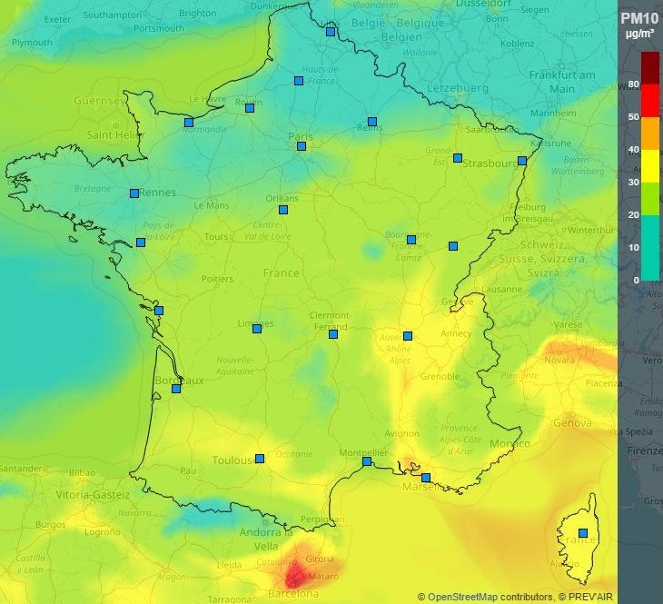 Image d'illustration pour Pollution aux particules fines - Qualité de l'air dégradée