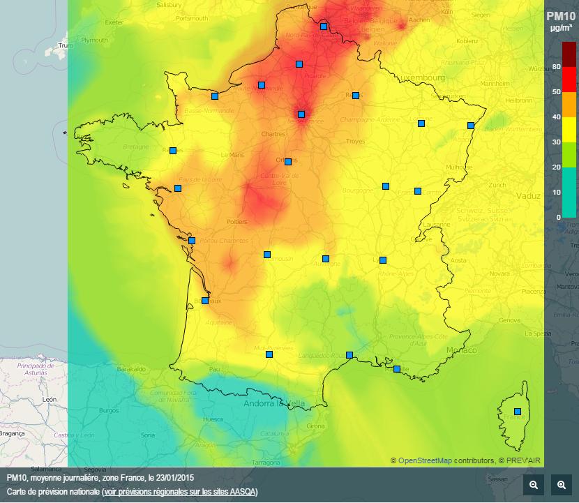 Image d'illustration pour Pic de pollution aux particules fines en France et à Paris