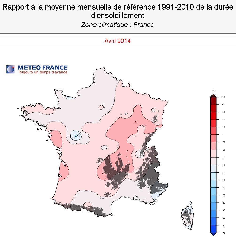 Image d'illustration pour Pré-bilan d'avril 2014 : doux, sec et ensoleillé