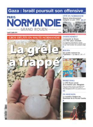 Image d'illustration pour La presse quotidienne régionale fait sa une sur le mauvais temps, sauf...