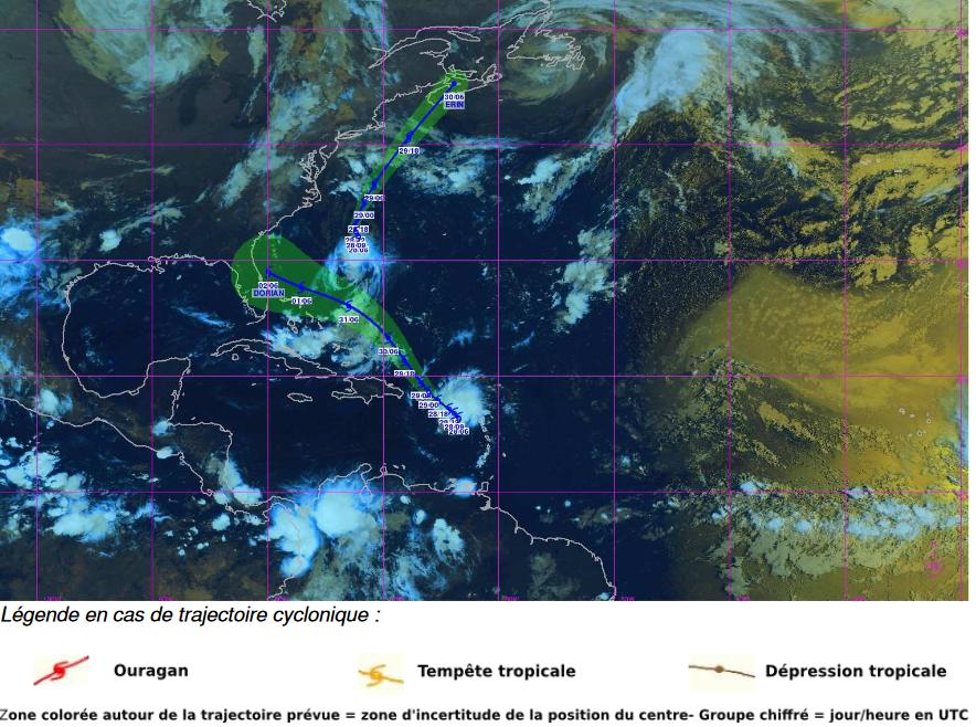 Image d'illustration pour Suivi de la tempête tropicale Dorian